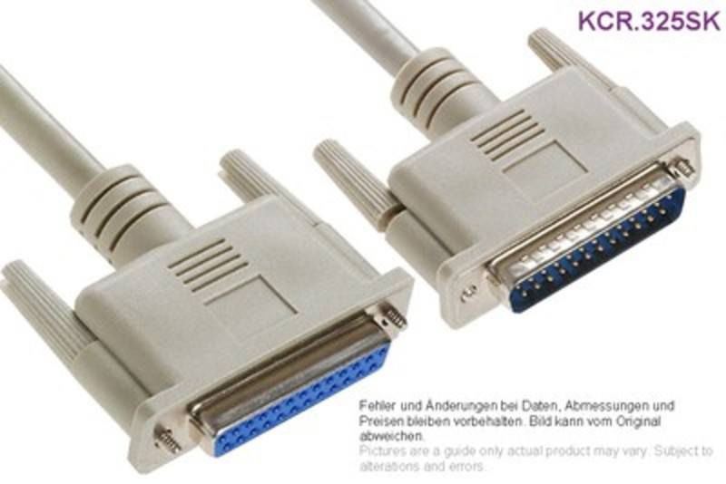 Kabelgarnitur 1:1 D-Sub 25p Male/Female 3m, Grieder Elektronik ...