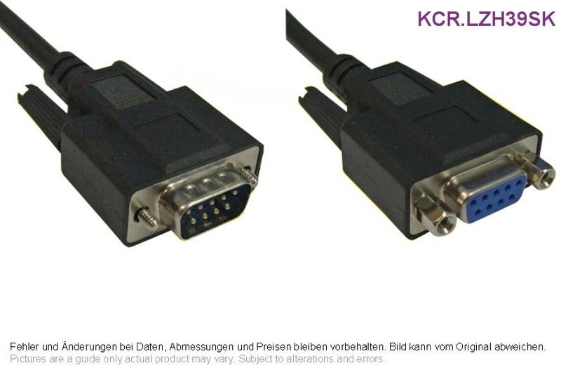 Kabelgarnitur 1:1 D-Sub LSZH 9p Male/Female schwarz 3m, Grieder ...