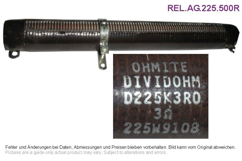 Draht-Widerstand 500 Ohm 225W, Grieder Elektronik Bauteile AG