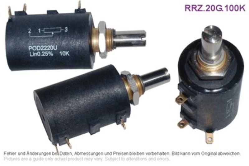 20-Gang Draht-Potentiometer 100k 2W 5%, Grieder Elektronik Bauteile AG