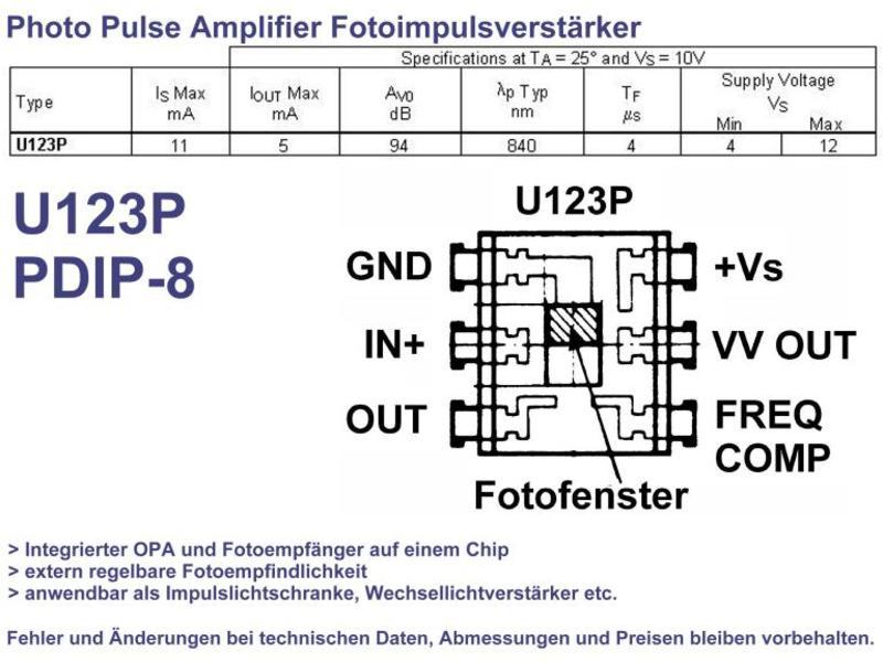 Light Detector PDIP-8, Grieder Elektronik Bauteile AG