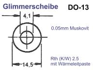 Glimmer-Isolierscheibe DO-13