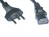 Mains Cable 3x1mm2 Black 2m T12/IEC60320-C13