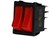 SP Twin Rocker Switch Black On-Off 16A/8A 250VAC Red Illuminated