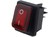 DPST Rocker Switch On-Off 250VAC Red Illuminated Everel B4MASK