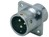 Push-Pull Connector Square Flange 3-Pole Male 250VAC 13A IP67