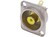 Phono RCA Socket Female Nickel D-Shape Yellow Contrik NF2D4