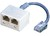 ISDN-Adapter RJ45 Male to 2xRJ45 Female Cable Roline 12.01.0582